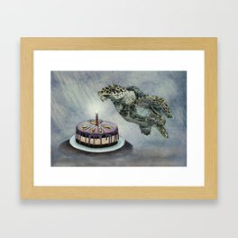 Turtle Birthday Framed Art Print