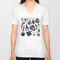loll3 V-neck T-shirts featuring Witchy  by lOll3