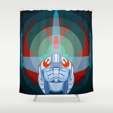 Red leader standing by Shower Curtain