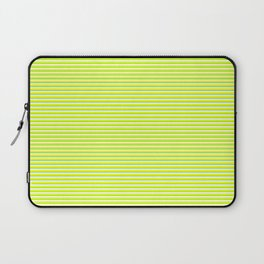 Banana and Lime Yellow and Green Stripes Laptop Sleeve