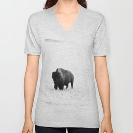 A Bison - Monochrome Unisex V-Neck