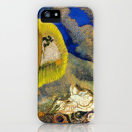 """Odilon Redon """"Vision sous-marine or Paysage sous-marin"""" iPhone Case"""