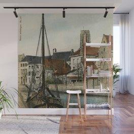 1890 Mechelen Malines Dyle river Wall Mural