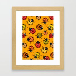 Colorful ladybugs Framed Art Print
