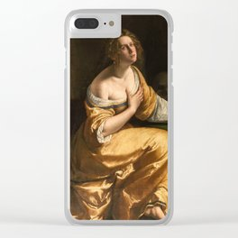 Artemisia Gentileschi, Self Portrait as Mary Magdalene, 1616 Clear iPhone Case