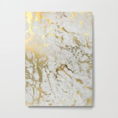 Gold marble Metal Print