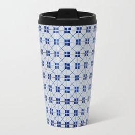 Lisbon tiles - decorative in blue Travel Mug