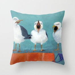 Gaviotas Throw Pillow