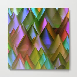 colored cones -2- Metal Print