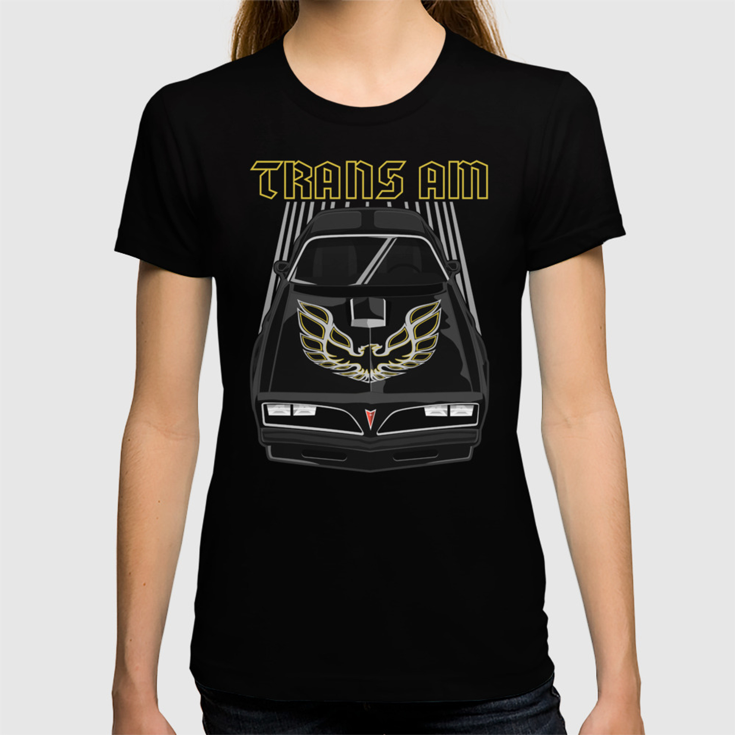 2d3c73da Pontiac Firebird Trans Am 77-78 - Black and Gold T-shirt by v8social ...