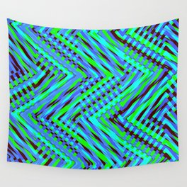 Chevron Blue Wall Tapestry