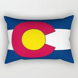 Colorado Map with Coloradan Flag Rectangular Pillow