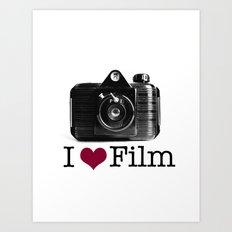 I ♥ Film Art Print