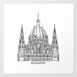 """ Travel Collection "" - Budapest Print Art Print"