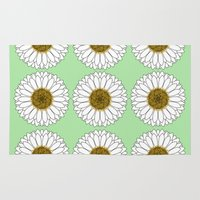 daisy Area & Throw Rugs featuring Daisy by Lorelei Douglas