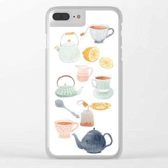 Tea Clear iPhone Case