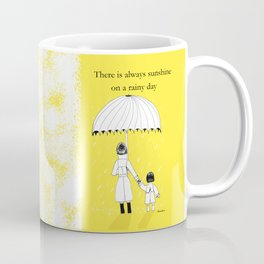 Mother and Daughter in the rain Coffee Mug