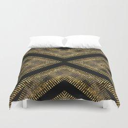 Black Gold | Tribal Geometric Duvet Cover