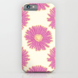 Hottentot Fig Flowers Pattern iPhone Case