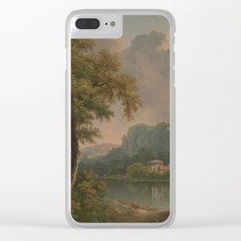 Abraham Pether - Wooded Hilly Landscape (1785) Clear iPhone Case