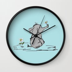 Jeffery Elephant Wall Clock