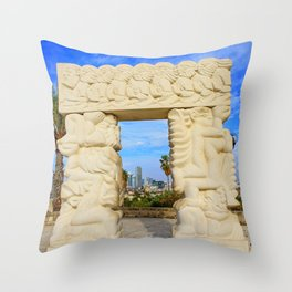 Gate of Faith Throw Pillow