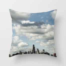 Chicago Skyline #1 Throw Pillow