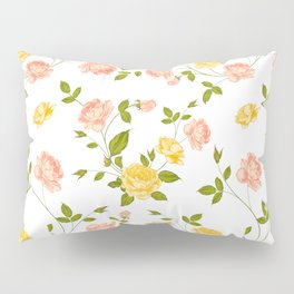 Roses, floral background Pillow Sham