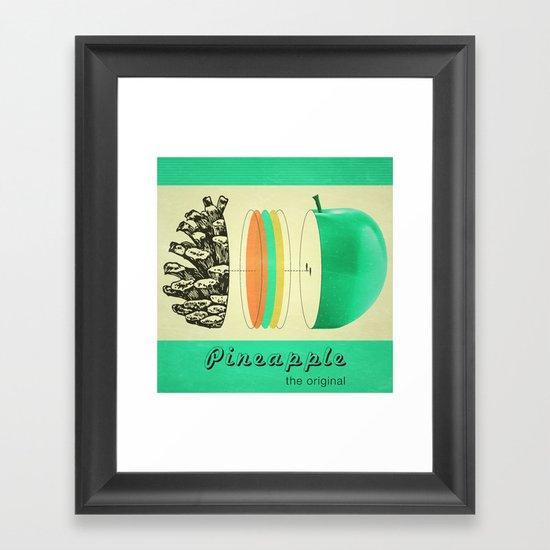 pineapple, the original Framed Art Print