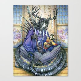 Old Man Darkness Canvas Print