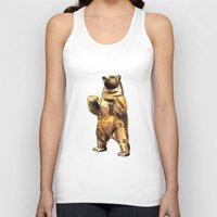 central park Tank Tops featuring Central Park Bear by Piljam