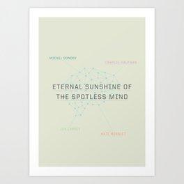 A MOVIE POSTER A DAY: ETERNAL SUNSHINE Art Print
