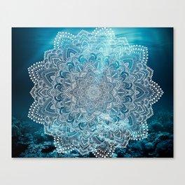 Sea Lights Mandala Canvas Print