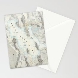 Vintage Map of The Great Salt Lake (1852) Stationery Cards