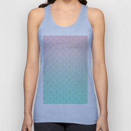 Moroccan pattern with mint, pink and gold Unisex Tank Top