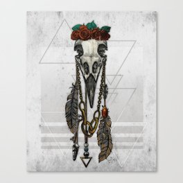 Bestial Crowns: The Crow Canvas Print