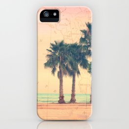 Peach and Grapefruit Sunset on Boardwalk iPhone Case