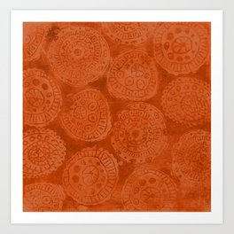 Tribal Terracota Rounds Art Print
