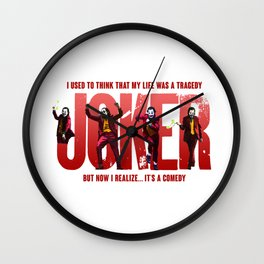 The Joker Tragedy Wall Clock