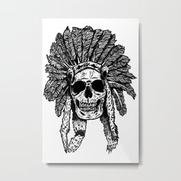 Chief Skull Metal Print