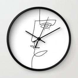 Abstract Face - Line Art Wall Clock