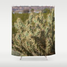 Winter Cactus Shower Curtain