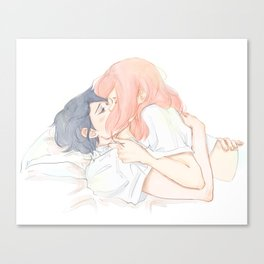 Highschool Sasusaku Canvas Print