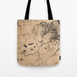 Map of Ipswich 1832 Tote Bag