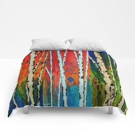 Birch Tree Stitch Comforters