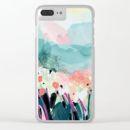 spring landscape Clear iPhone Case