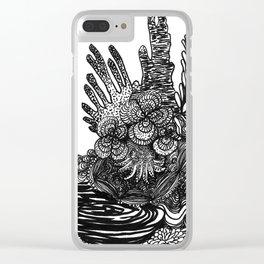 Hidden Cuttlefish Clear iPhone Case