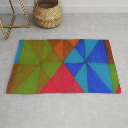 triangle color blocks 5 Rug