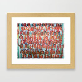 La hinchada de Argentina por Diego Manuel Framed Art Print