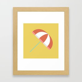 Summer Beach Umbrella Framed Art Print